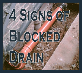Four Major Signs Of A Blocked Drain