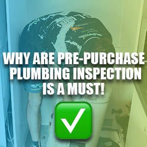 Why a Pre-Purchase Plumbing Inspection is a MUST!