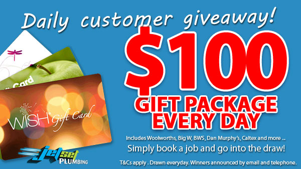 Daily Customer Giveaway. $100 Gift Package Every Day.