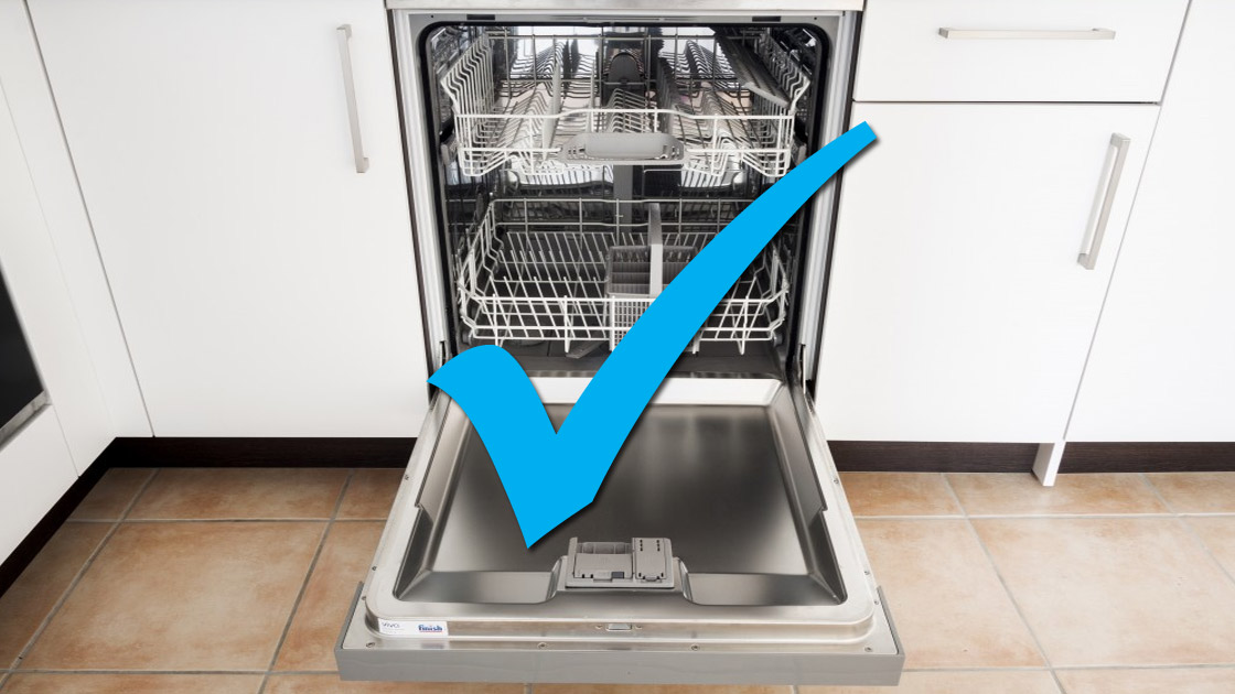 Dishwasher machine that has been installed