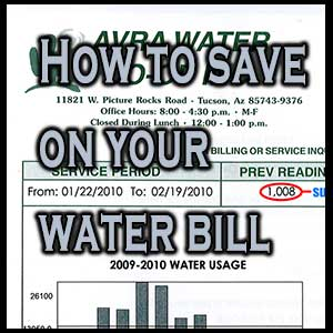 How to Save On Your Water Bills