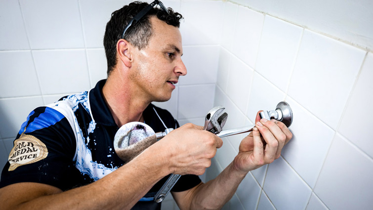 Fixing a leaking shower