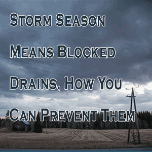 Storm Season Means Blocked Drains, How You Can Prevent Them