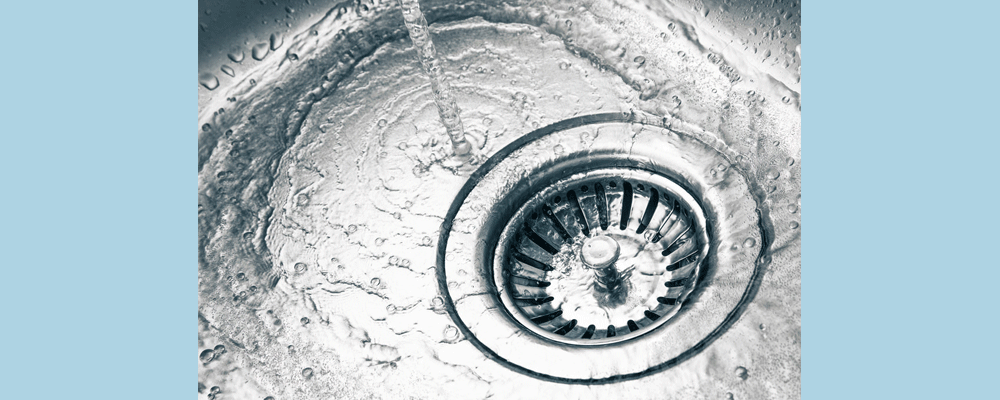 Drains can be built up from junk been thrown down the drain.