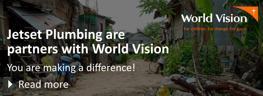 Jetset Plumbing partners with World Vision
